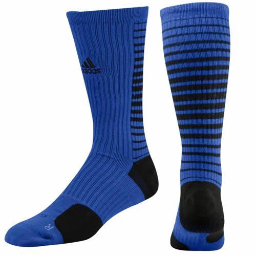 Adidas Team Speed Vertical Basketball Crew Socks (Cobalt Blue Black ... e7e758f13