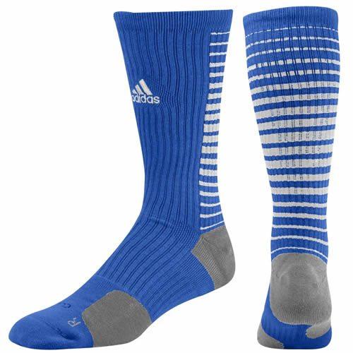 f2f8e289d Adidas Team Speed Vertical Basketball Crew Socks (Collegiate Royal/White)